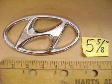 "HYUNDAI oval chrome plastic emblem 5 5/8"" flat Azera Sonata Equus Accent"