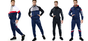 Mens Tracksuit Hoodie Designer Slim Fit Hooded Fitness Gym Zip Hoody