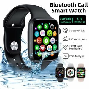 Bluetooth Smart Watch Android for iPhone Waterproof ECG Heart Rate Blood Monitor