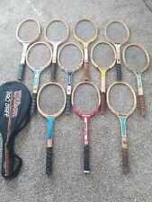 Lot Of 12 Vintage Wood Tennis Racquets Wilson Chris Evert pro staff