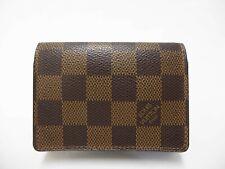 Authentic LOUIS VUITTON Damier Ebene Card Case Carte De Visite N62920 Brown