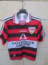 VINTAGE Maillot STUTTGART ADIDAS trikot oldschool football shirt XS D 164 jersey