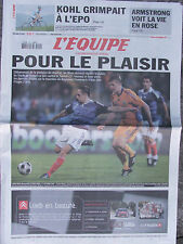 L'Equipe du 14/10/2008 - Kohl positif - Armstrong - Foot : avant France-Tunisie