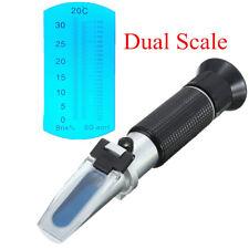 0~32% Brix Wort Specific Gravity Refractometer For Fruit Juice Beer Wine Test