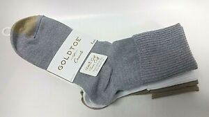 3 Pairs Gold Toe Women Casual Socks Ultra Soft Providence Turn Cuff Shoe Sz 6-9