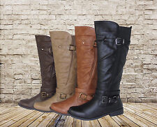 New Knee High Boots Casual Faux Leather Zipper Fastening Free Shipping