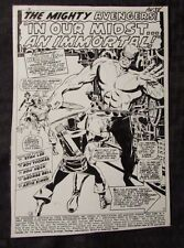 "1967 AVENGERS #38 Don Heck George Bell Production STAT Art 7x9.5"" 20 pages"