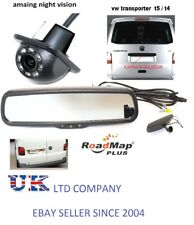 volkswagen t5 rear reverse parking camera kit rear view mirror monitor 4.3 inch