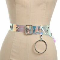 cercle punk ceinture l'arc - en - ciel. transparent femmes ceinture boucle
