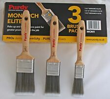 """PURDY MONARCH ELITE SYNTHETIC PAINT BRUSH SET 1"""", 1.5"""", 2"""" MONSPEC1 - TRACKED"""