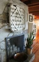 "Farmhouse Rustic Flat 23""×23""×2"" TOBACCO BASKET TRAY Modern Vintage Home Decor"