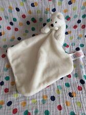 F&F Tesco White Teddy Polar Bear Baby Comforter Comfort Blanket Soft Toy Blankie