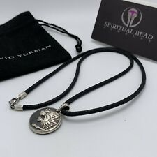 "David Yurman Petrvs Lion Amulet With 24""  Cord Necklace"