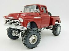 SO REAL CONCEPTS RED 1957 CHEVROLET PICKUP 1:24 SCALE MODEL TRUCK 1 OF 976
