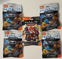 Lot of 5 Mega Construx Halo Blind Bags 4 Battle for the Ark 1 Warrior Series