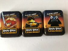 Angry Birds Star Wars Playing Cards.  Set(3) NEW With Holographic Card.