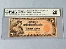 Philippines 20 Pesos P-9b 1912  PMG 20  *Annotation, Minor Rust*
