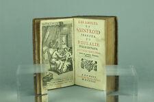CURIOSA Les Amours de Sainfroid Jésuite et d'Eulalie 1729 EO RARE Livre ancien