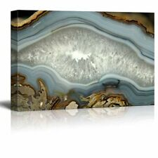"""Canvas Wall Art - Abstract Agate Slice Pattern - Giclee Print - 12"""" x 18"""""""