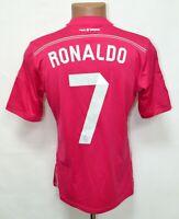 REAL MADRID SPAIN 2014/2015 AWAY FOOTBALL SHIRT JERSEY #7 RONALDO ADIDAS SIZE S