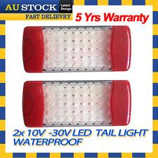 2x 10-30V LED Tail Light For Truck Trailer UTE Bus Boat Car Caravan