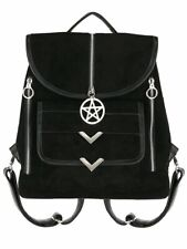 Restyle Blaire Suede Pentagram Gothic Punk Occult Witchy Pagan Bag Backpack
