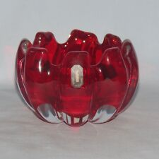 WHITEFRIARS ART GLASS RUBY VASE SHAPE 9876 labels intact
