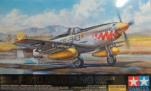 KOREAN WAR F-51D MUSTANG TAMIYA 1:32 SCALE PLASTIC MODEL AIRPLANE KIT