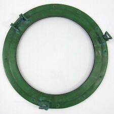 "20"" Porthole Window Aluminum Green Finish ~ Ship Cabin Porthole ~ Nautical Decor"