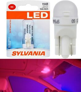 Sylvania Premium LED light 194 Red One Bulb Interior Trunk Cargo Replace Fit OE