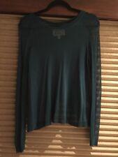 AIKO Blue Sheer Rayon Long Sleeve Shirt Size XS