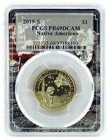 2019 S Sacagawea Dollar PCGS PR69 DCAM - Space Frame