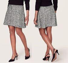 NWT Ann Taylor LOFT Tweed Elastic Waist Flouncy Skirt Size S