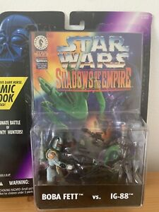 Star Wars Shadows Of The Empire Boba Fett Vs. IG-88 With Comic Book 1996