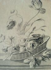OLD MASTER DRAWING 'Flowers' - circa 1775 - Piera, Foll. of Maria Sybilla Merian
