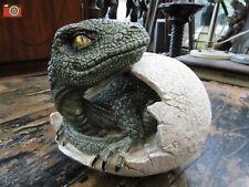 More details for raptors dawn, hatching dinosaur egg figurine. very detailed, dragon t-rex raptor