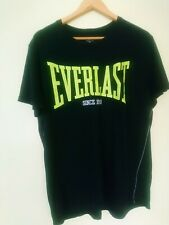 Vintage Everlast Everdri Black Retro Flouro Green Logo Sz Xl Near New