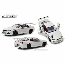 1 18 1999 Nissan Skyline R34 GTR Pearl White Greenlight