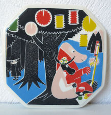 Arabia Finland, Moomin Wall Plate  Who Will Comfort Toffle? 3/6  VERY RARE!