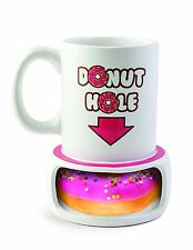 Donut Hole Mug Coffee Cup 14 oz Ceramic Funny Gag Prank Toy Gift BRAND NEW