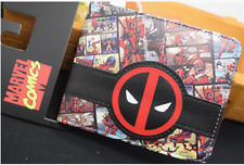 Marvel Wallets Superhero Deadpool Leather Men's Wallet Purses New