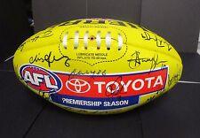 Melbourne  - 2016 team signed sherrin football - Yellow - AFL/Toyota sponsor