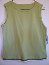 New Athletic Works womens Large green stretch athletic apparel workout tank top