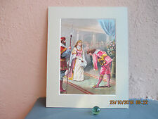 vintage lithograph illustration of Cinderella and the Prince 1893