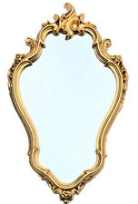 Exclusive Baroque Mirror Wall Antique Reproduction Bathroom Gold 77x43 Cm