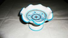 Alzatine ondulate decoro castagne sfumato celeste cm. 11x15