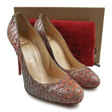 NEW RARE Authentic Christian Louboutin Python Simple Pump RRP 820 Heels Shoes
