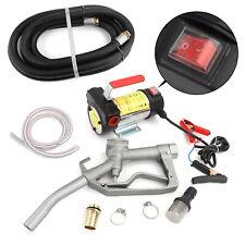 Electric Fuel Transfer Pump Diesel Kerosene Oil Commercial Auto 12V Dc w/Nozzle