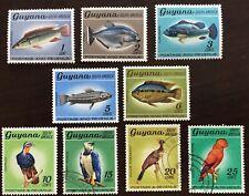 1968 GUYANA wildlife Scott # 39-44 MH, 45-47 used partial set