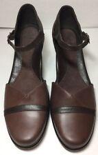 Dansko Roxy Brown Leather Ankle Strap Pumps Women's Size 41/10.5-11 M